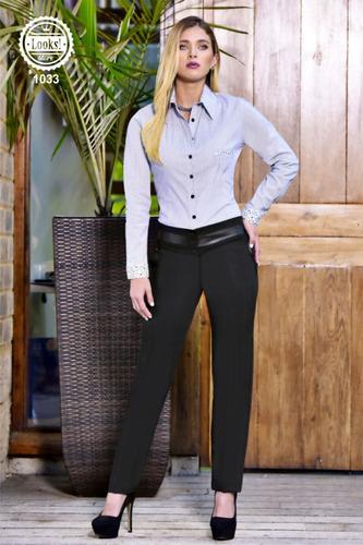 pantalón en lino para dama elegante