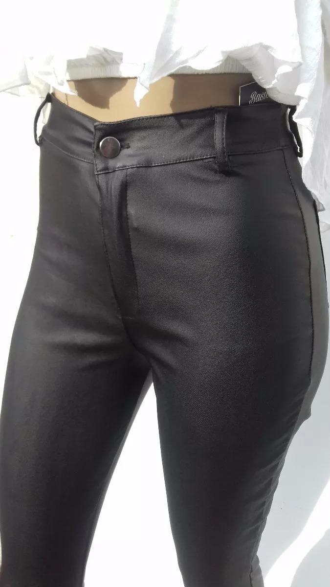 Pantalon Engomado De Cuero Negro (004 1) -   690 c9a7337da667