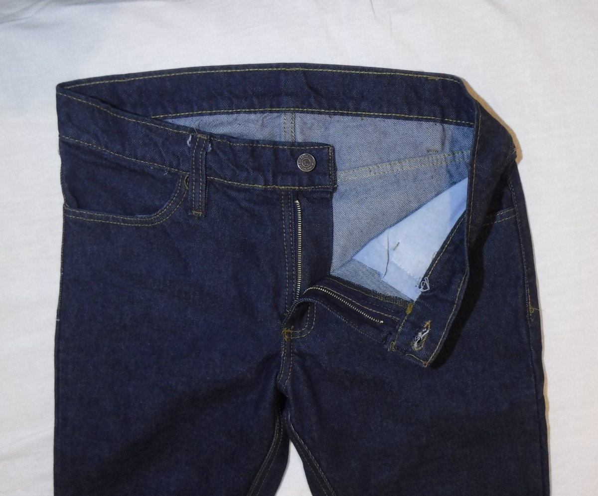 Pantalón Entubado De Mezclilla Tipo Industrial 14.4 Oz ...