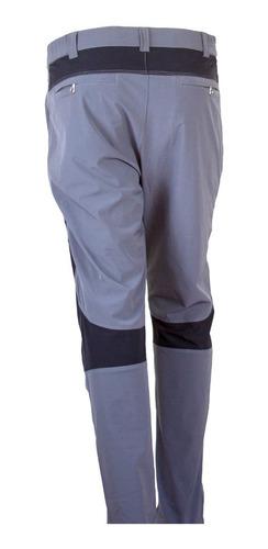 pantalón escalada elasticado repelente al agua gris negro