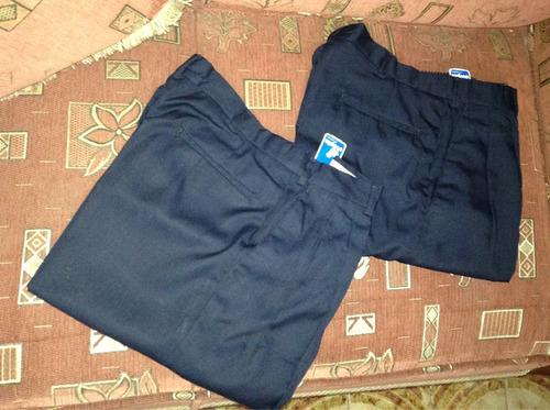 pantalón escolar azul marino nuevos ovejita hombre  talla 32