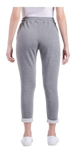 pantalon ess basic gris mujer le coq sportif