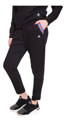 pantalon ess basic negro mujer le coq sportif