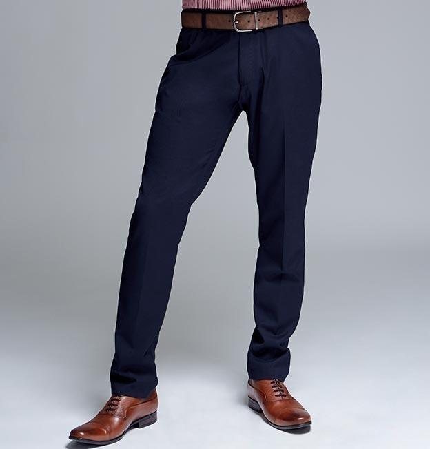 el precio más bajo 0ac47 6e817 Pantalón Formal Azul Marino Y Negro Para Hombre Formal 2018
