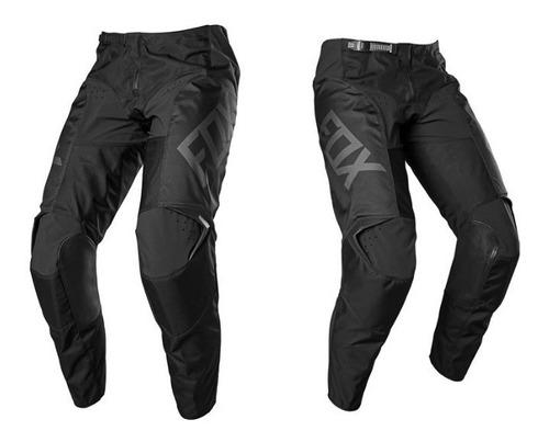 pantalon fox 180 revn negro/negro motocross