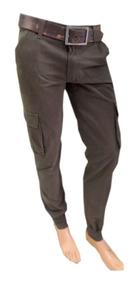Pantalon Hombre Ss19 Con Cargo Gabardina Puño 7gyb6Yf
