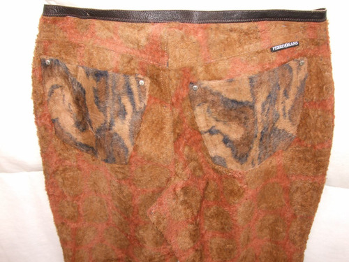 pantalon gianfranco ferre café tipo piel animal print italia