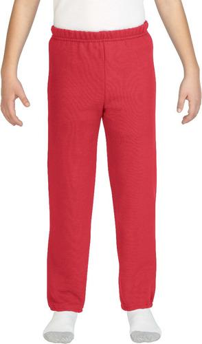 pantalón gildan rojo juventud - tamaño medio caso paquete 12
