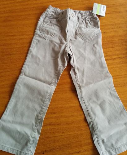 pantalón gris carters talla 4 para niña