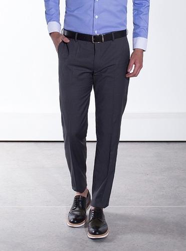 pantalón gris oxford galo bertin