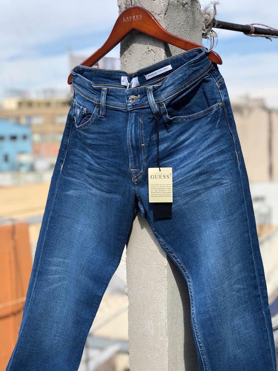 Pantalon Guess Regular Straight Mezclilla De Hombre ...
