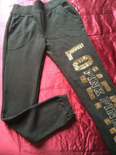pantalon gym pant pink victoria secret extra small xs bling