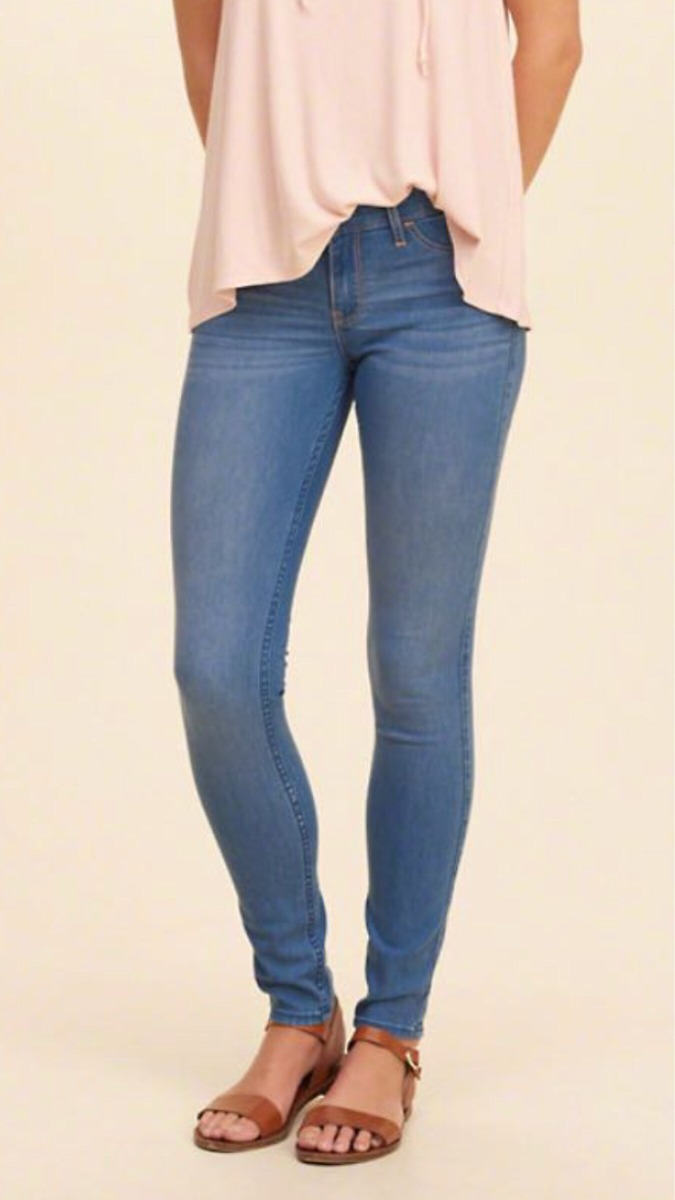 Pantalón Hollister Jeans Leggins Para Mujer Talla 9r W29 ...