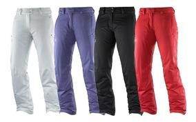 diseño de calidad venta minorista rendimiento confiable Pantalon Impermeable Repelente Agua Montaña Salomon Mujer