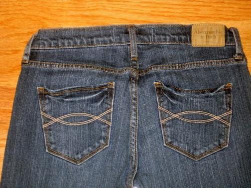 pantalon jean abercrombie dama bootcut mujer 0 xs stock