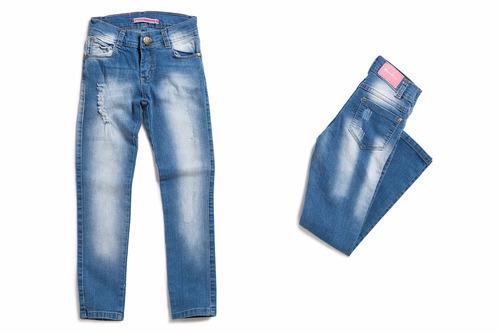 pantalón jean chupín niña