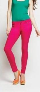 pantalón jean colores fucsia talla 28 corte medio