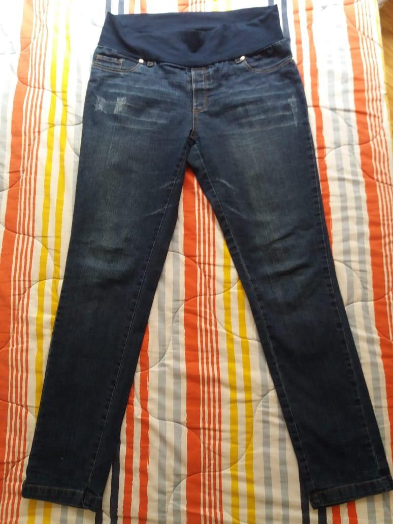 5f7f317ad pantalon jean embarazada elastico en cintura. mamaternity. Cargando zoom.