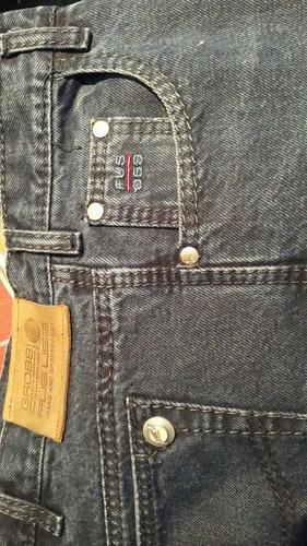 pantalón jean gross fus color azul marinotalle 44. 2 puestas