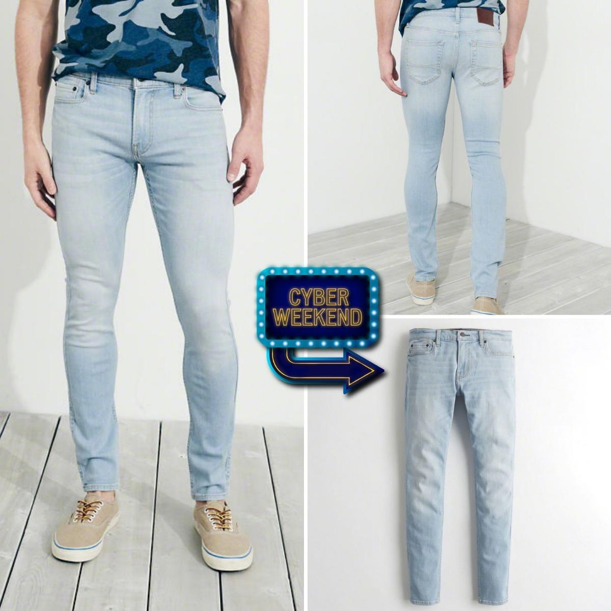 8f8bda00b6 Pantalón Jean Hollister Extreme Skinny Pitillo Talla 32 X 32 - S  174
