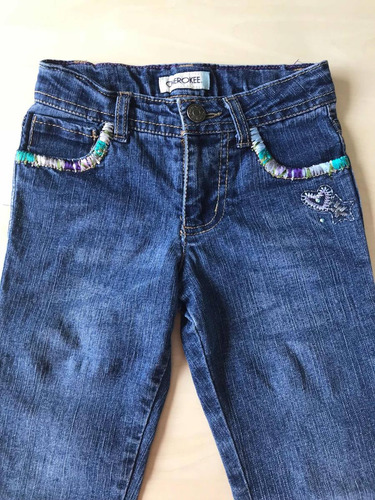8e87efa424 pantalón jean importado nena cherokee talle 5 con bordado. Cargando zoom.