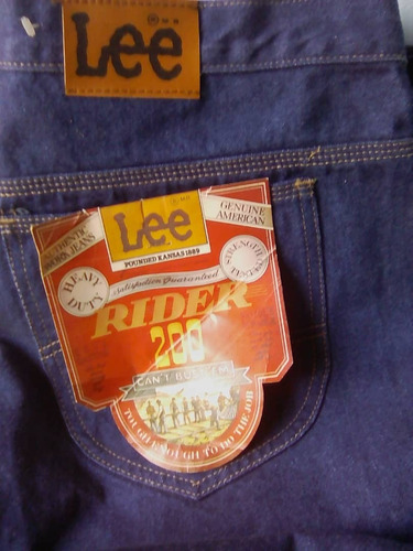 pantalon jean lee original, serie 200, talla 42