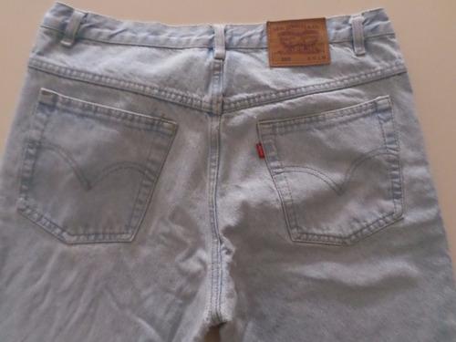 pantalon jean levis talle w36 l34 modelo 505 tiene un parche