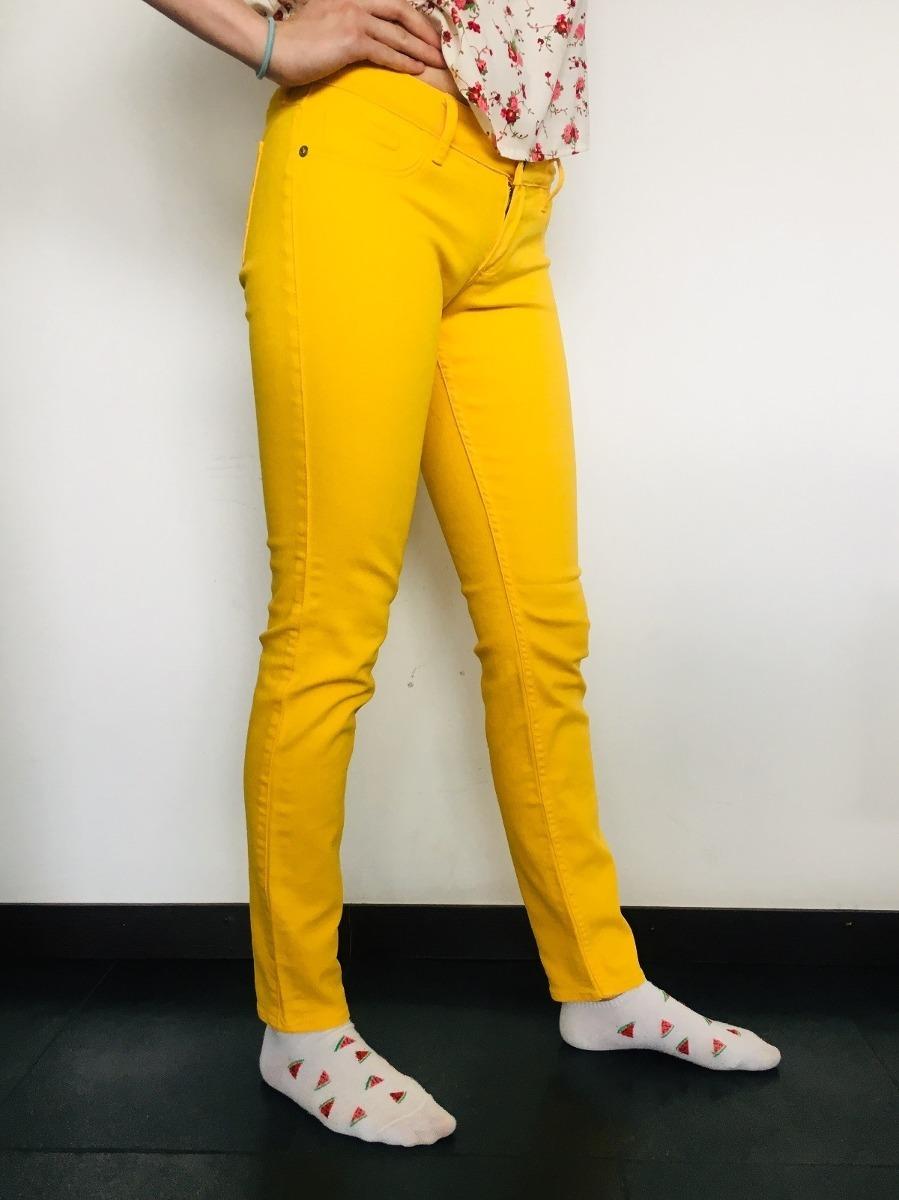 Jean Pantalón Mujer Amarillo Sleam uFJ3lK1cT