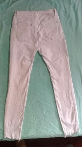 pantalon jeans blanco talla 38