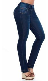 Pantalón Jeans De Mujer Dama Elastizado De Vestir Chupin