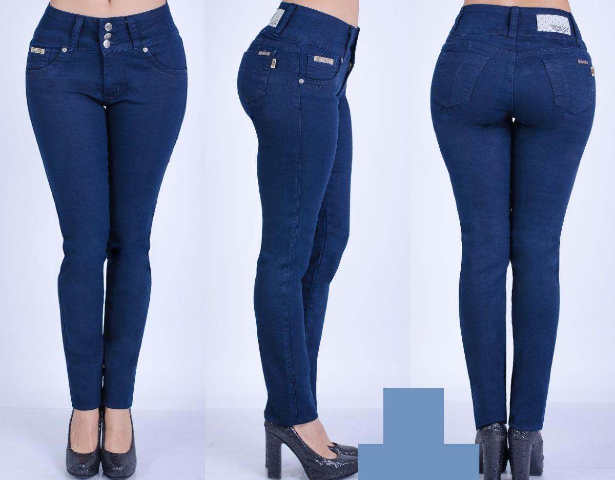 ddbb2550cf8c5 Pantalon Jeans Elastizado Chupin Azul Marino Dama T-36 Al 40 -   850 ...