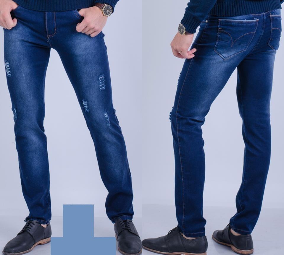 78b7f07f77 pantalon jeans elastizado con rotura para hombre t-44 al 48. Cargando zoom.