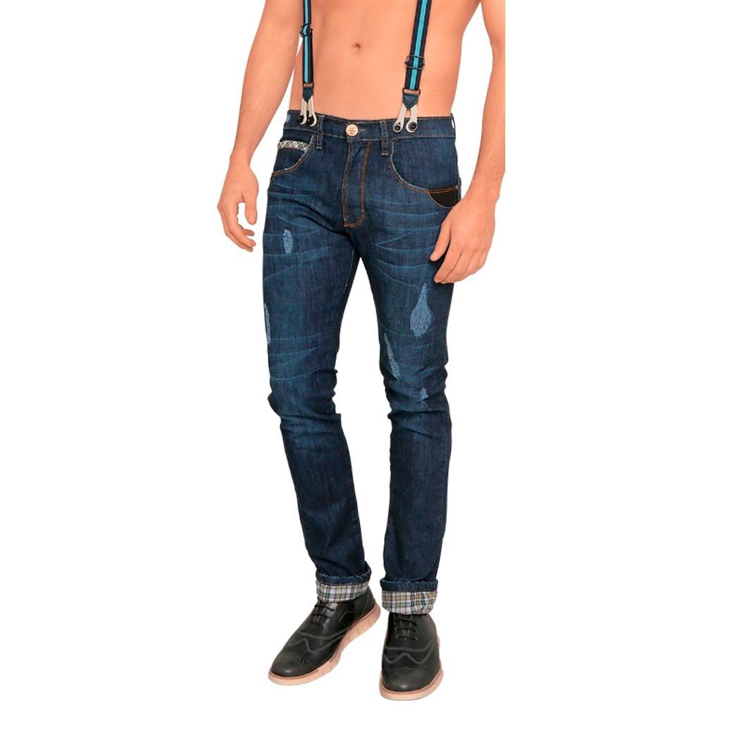 2df2e4f0ae pantalon jeans hombre caballero mezclilla boot cut tirantes. Cargando zoom.