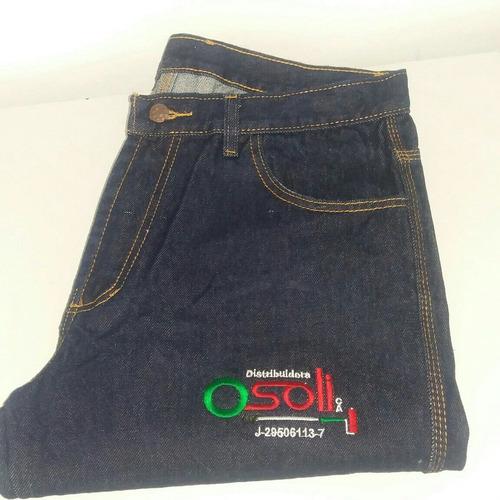 pantalón jeans industrial tres costuras uniformes de trabajo