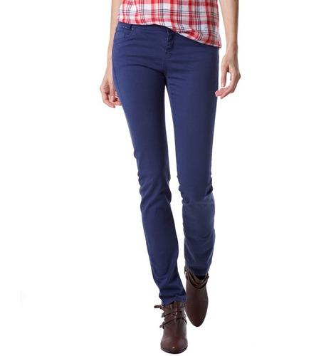 pantalon jeans juvenil dama skinny stradivarius azul marino