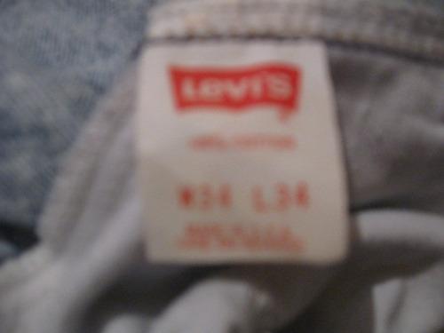 pantalon jeans levi strauss talla w34 l34