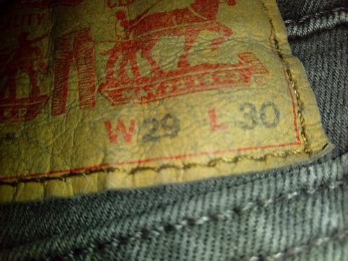 pantalon jeans levis levi's original 510 estilo tubo 29 x 30