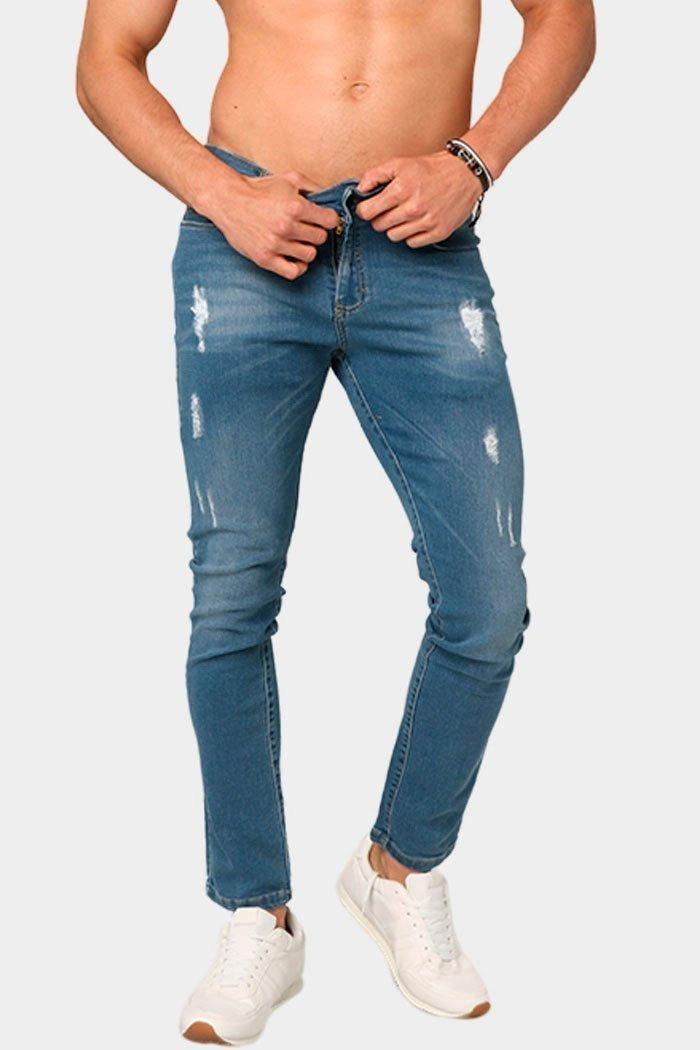 3f728407f90df pantalon jeans mezclilla hombre azul roto desgarrado skinny. Cargando zoom.