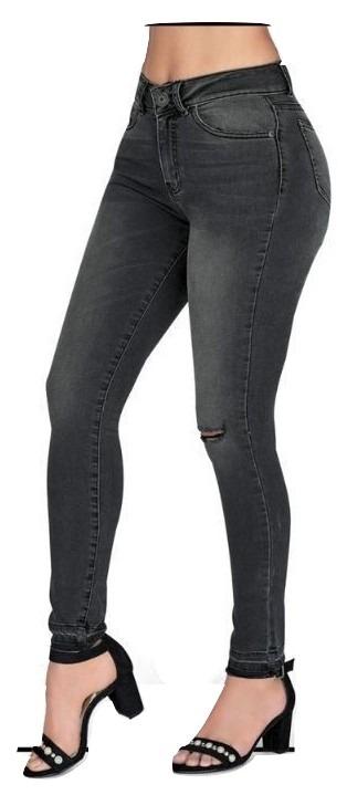 742cd3674 Pantalon Jeans Mezclilla Stretch Dama Cklass Gris 96002 Udt ...
