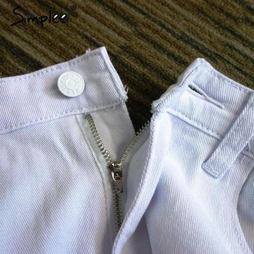 pantalón jeans mujer ajustado color blanco