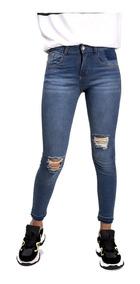 super popular f49fe 15d9b Pantalón Jeans Mujer Roto