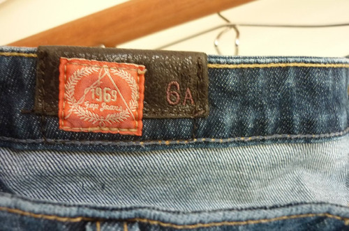 pantalón / jeans niña gap  talla 6 a
