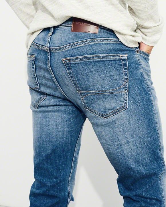 afdebcedbb Pantalón Jeans Super Skinny Hollister Talla 32 X 32 Rasgado - S  199 ...
