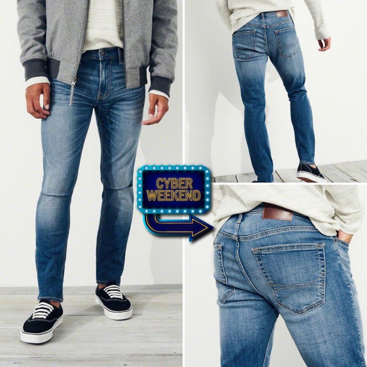 4955af17ec pantalón jeans super skinny hollister talla 32 x 32 rasgado. Cargando zoom.