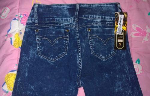 pantalon jeans tipo felino, jaguar, tigre chta
