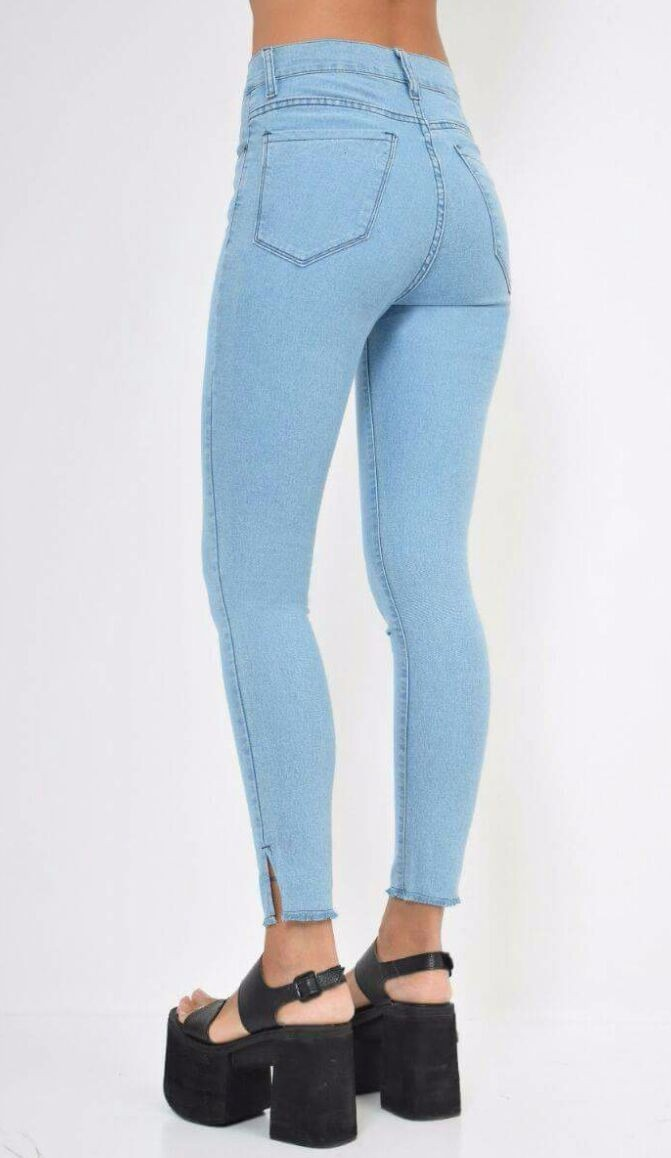 36ae077be81ec pantalon jeans tiro alto elastizado. Cargando zoom.