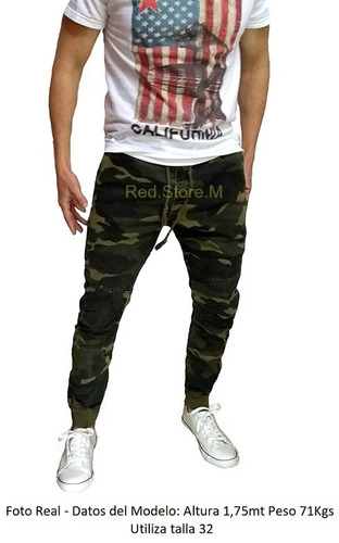 pantalon jogger pitillo estilo militar, envío gratis
