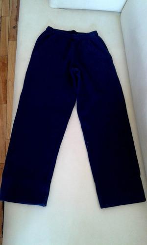 pantalón jogging azul escolar frizado talle m impecable