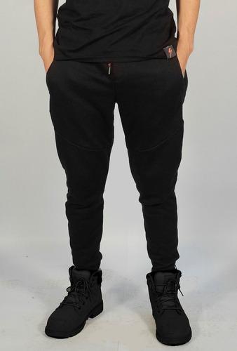 pantalon jogging negro rustico logo speed