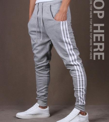 pantalon largo 3 rayas sudadera bota tubo pitillo deportiva